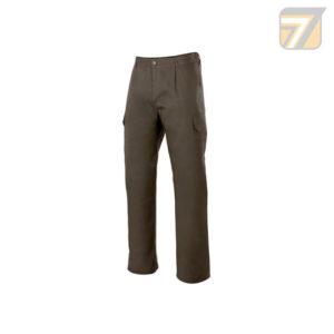 pantalón multibolsillos con pinzas y elástico en la cintura